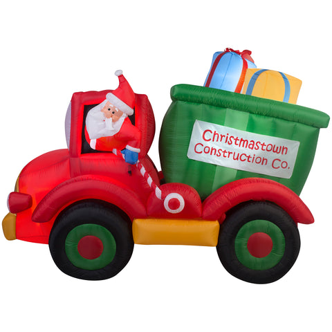 6' Animated Airblown Dump Truck w/Presents - Christmas Inflatable