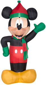 5.5' Airblown Mickey in Winter Dress Disney Christmas Inflatable