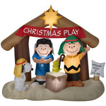 Load image into Gallery viewer, Gemmy Inflatables Peanuts Nativity Scene