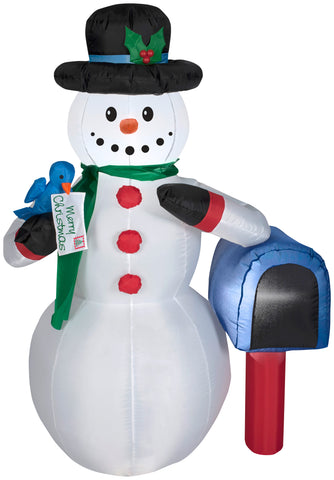 4' Airblown Snowman w/ Mailbox Christmas Inflatable