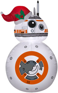 3.5' Star Wars Airblown BB-8 w/ Santa Hat Christmas Inflatable