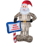 Load image into Gallery viewer, Gemmy Airblown Inflatables 89127X Military Santa With God Bless America Sign