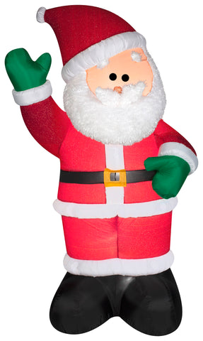 6' Airblown Mixed Media Santa Christmas Inflatable