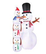 Load image into Gallery viewer, 10' Inflatable Snowmen Scene