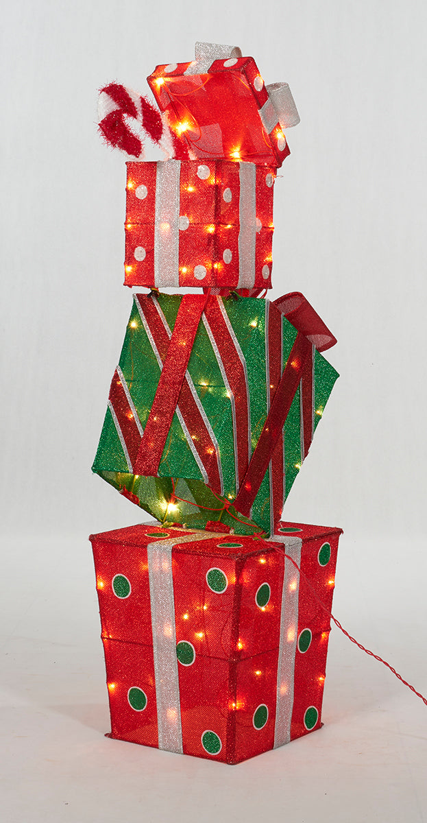 "48"" UL Stacked Gift Box  Sculpture"