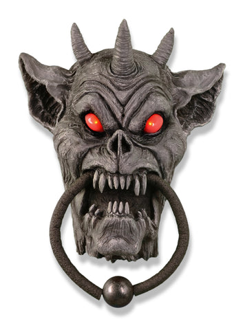 Gargoyle Animated Doorknocker Halloween Prop