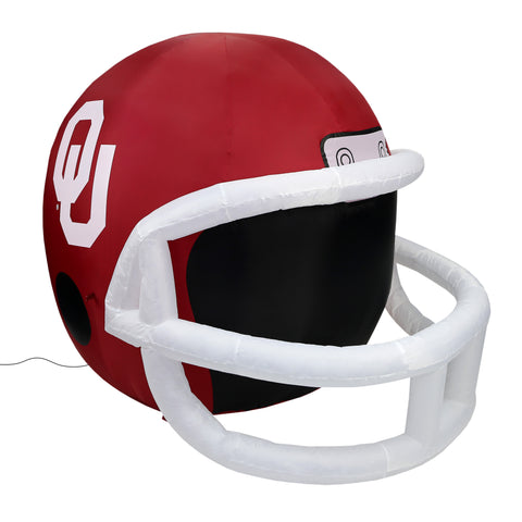 4' NCAA Oklahoma Team Inflatable Football Helmet