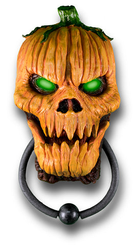 Animated Halloween Pumpkin Doorknocker