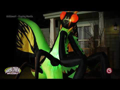 12' Projection Airblown Kaleidoscope Preying Mantis Halloween Inflatable