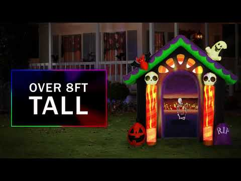 8.5' Living Projection Airblown-Archway Screen-Candy House w/Removable Screen Halloween Inflatable