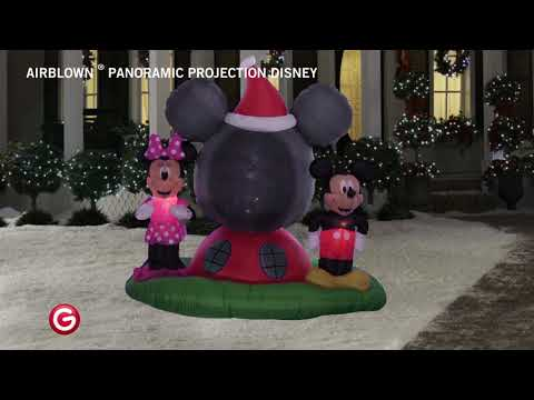 Disney Mickey & Minnie Airblown Panoramic Projection Ariblown Inflatable