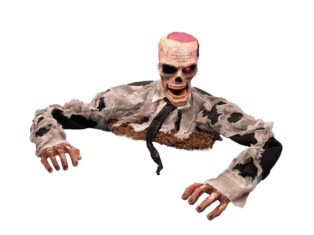 Animated Zombie Escaping from the Grave Halloween Prop