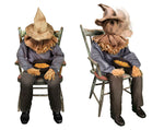 Load image into Gallery viewer, Tekky Toys Animated Sitting Scarecrow Halloween Prop