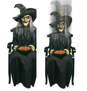 Animated Tekky Toys Pop Up Witch Halloween Prop