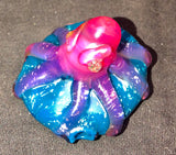 Heady Octopus in the Ocean Pendant - Dichro and Telemagenta