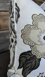 ready to ship // f schumacher // hothouse flowers // dusk // grey and white