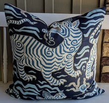 Load image into Gallery viewer, clarence house tibet tiger // chinoiserie pillow // tiger