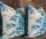quail meadow by schumacher // bird print // designer