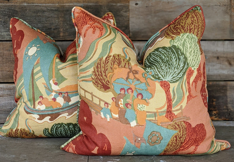 pearl river by schumacher // chinoiserie pillow cover // designer