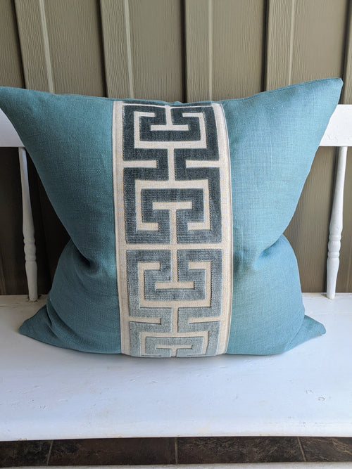 lee jofa linen with greek key tape