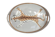 Load image into Gallery viewer, oval leopard tray // leopard print tray // dana gibson