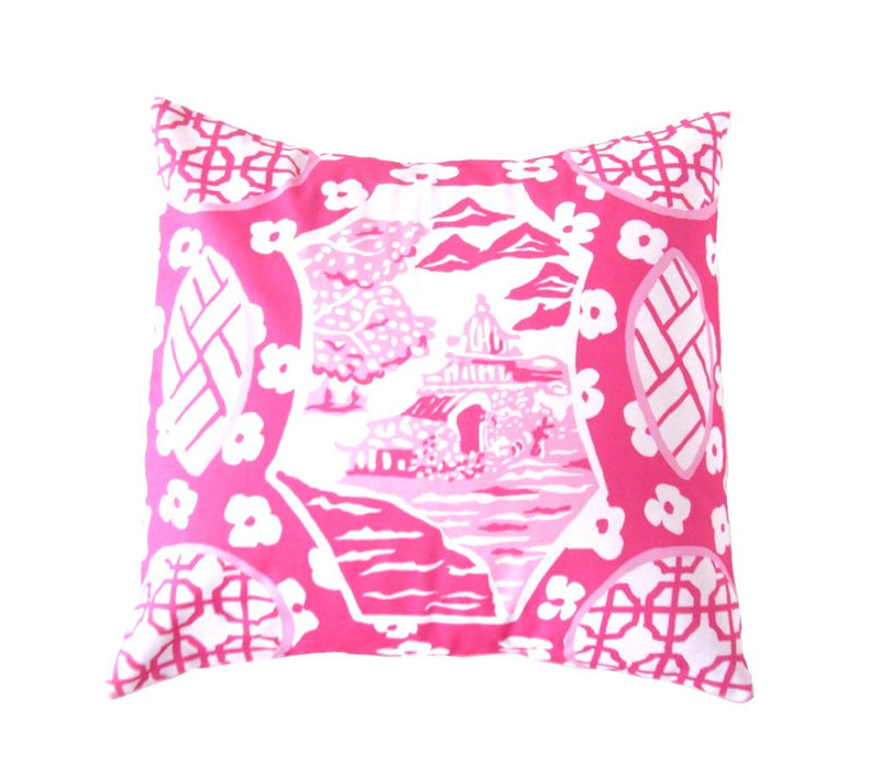 canton scene in pink // dana gibson // asian inspired // chinoiserie chic