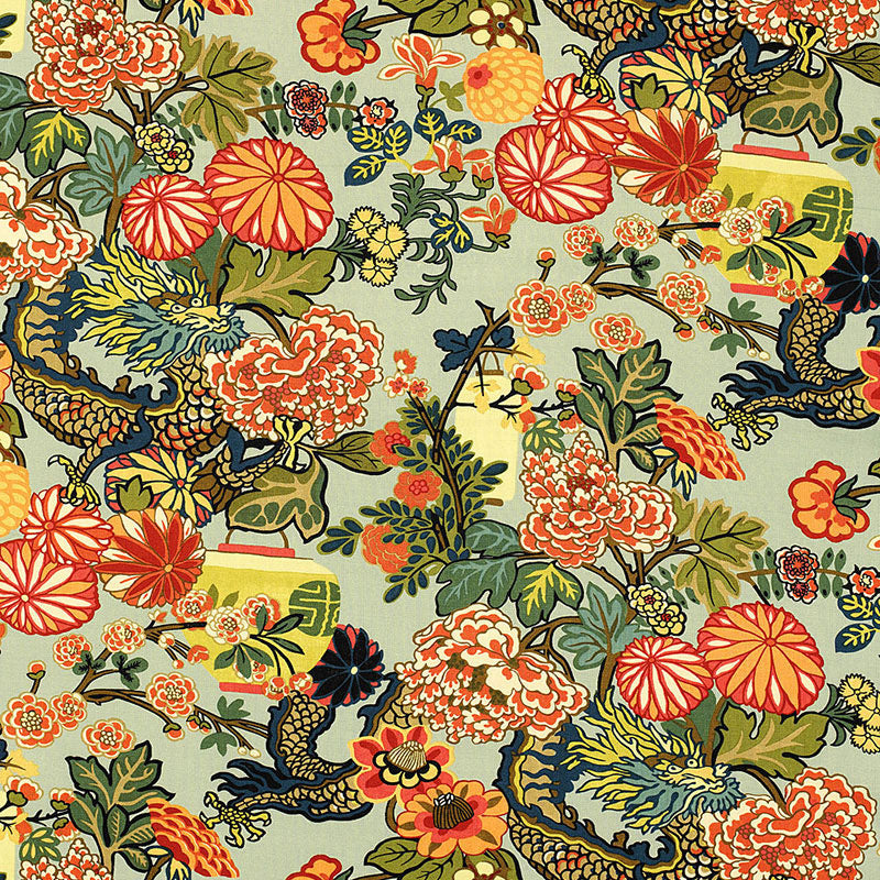 chiang mai dragon // dragon pillow // designer fabric // schumacher
