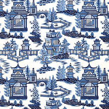 Load image into Gallery viewer, schumacher nanjing pillow // blue and white // chinoiserie pillows
