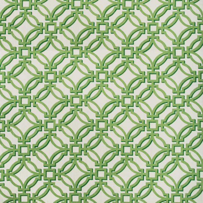 brunschwig & fils salvy print // trellis print // geometric pillows