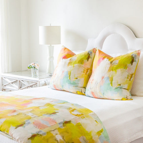 laura park // coral pillows // art on a pillow // coral bay