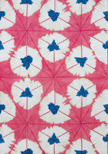 thibaut // sunburst // pink and orange // chintz like // bright decor
