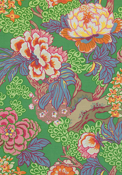 thibaut honshu floral pillow // bright and cheery pillows // chinoiserie style // designer fabrics