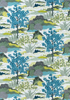 Thibaut daintree in blue moon // botanical pillow // bright pillow // chinoiserie pillow // thibaut fabric // chinoiserie