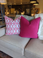 ready to ship // pink bamboo print pillow cover // pink pillow cover