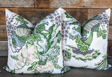 Load image into Gallery viewer, fairbanks // thibaut // bright decor // green pillows