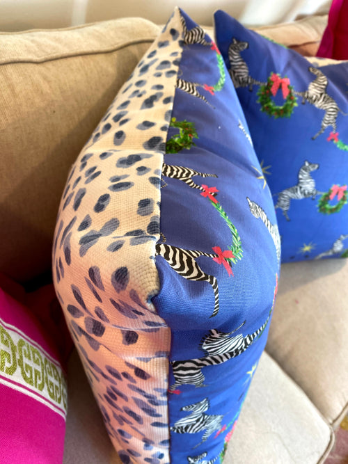 ready to ship // zebra christmas // holiday pillows