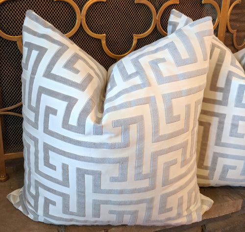 Ming Trail by Thibaut Pillow Cover - front only knife edge