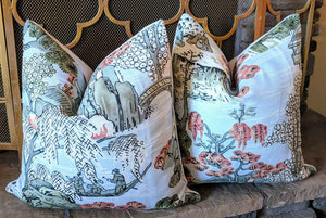 knife edge // asian scenic // thibaut fabric // chinoiserie style // asian inspired