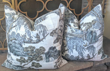 Load image into Gallery viewer, knife edge // asian scenic // thibaut fabric // chinoiserie style // asian inspired