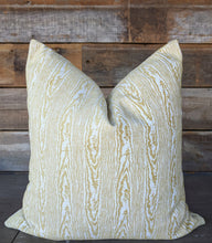 Load image into Gallery viewer, citron velvet // duralee // tobi fairley by duralee pillow covers // rivers fabric // yellow pillows // faux bois