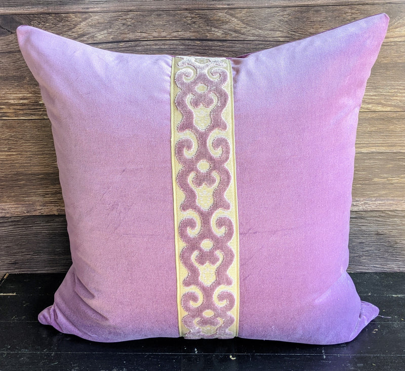 ready to ship // lavender velvet with tape // custom design