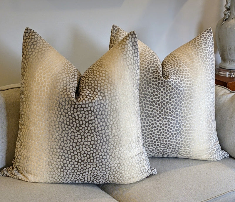 gazelle print pillow // neutral decor // animal print