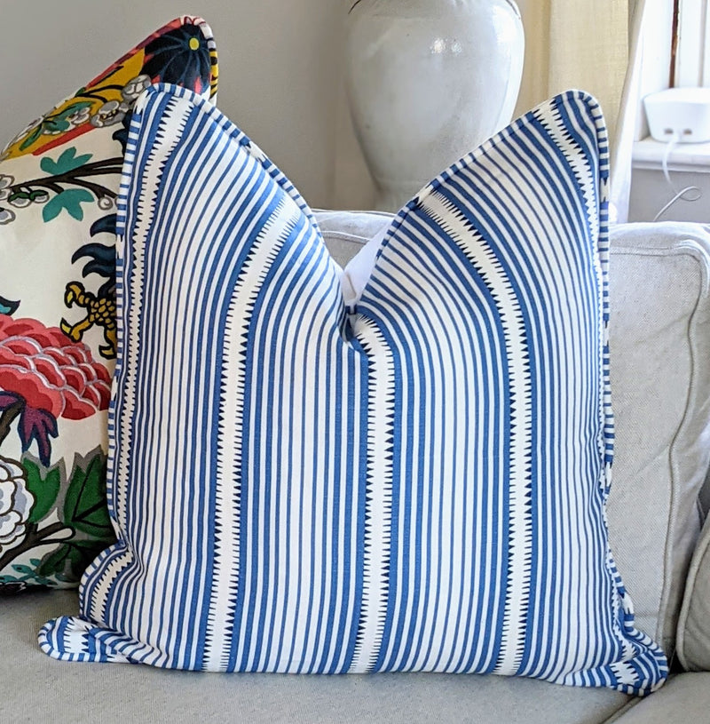 Ready to Ship - Moncorvo Stripe by Schumacher Pillow Cover, Front only