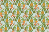 cotton and quill art of the pineapple // designer fabric // cattail design