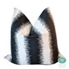 jiri ink flax pillow covers // abstract pillows // tribal decor // black and white