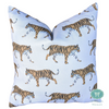 walking tiger print pillow // clairebella studio // leopard pillow