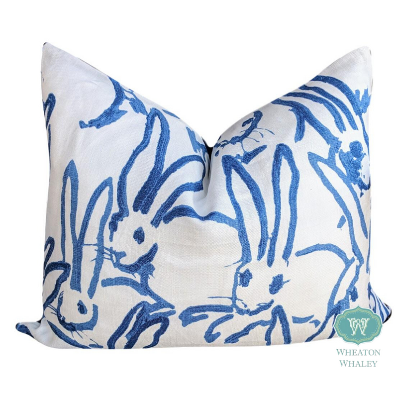 hutch print by lee jofa for groundworks // bunny pillow // kravet fabric