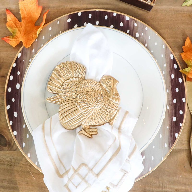 Turkey Thanksgiving Napkin Rings, Set of 4