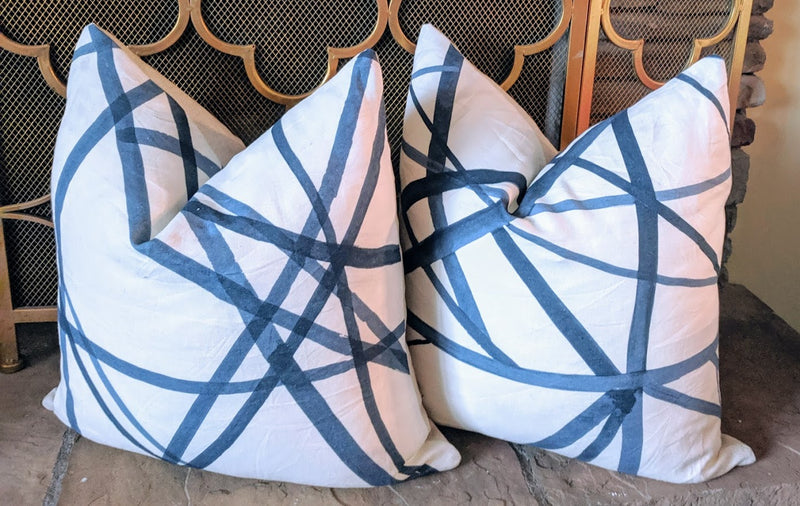 kelly wearstler channels // kravet // geometric pillows // designer fabric