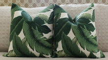 Load image into Gallery viewer, ready to ship // Banana leaf Palm print pillow cover // palm print // palm beach